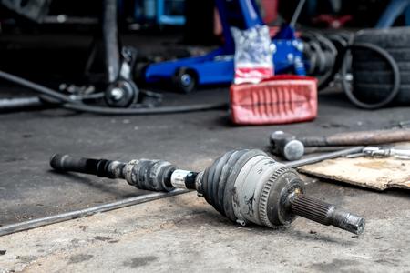 Photo for Repair drive shaft (CV Joint),Car maintenance. - Royalty Free Image