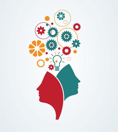 Illustration pour Creative mind. Abstract concept of imagination,creativity, ideas. - image libre de droit