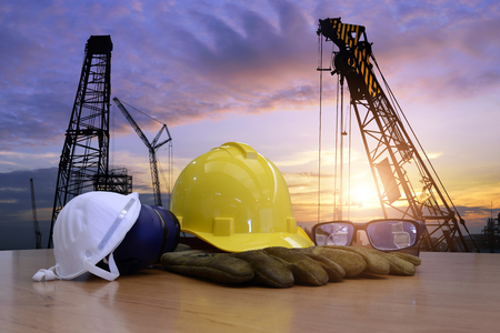Photo pour Standard construction safety and construction site background. - image libre de droit