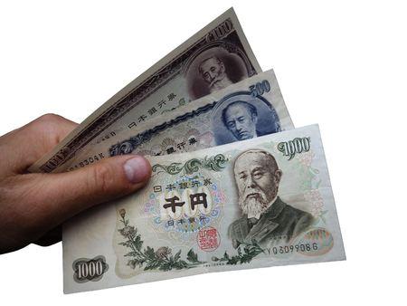 Foto de Japanese banknotes of the 1970s - Imagen libre de derechos