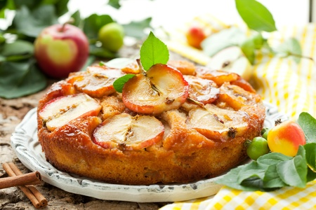 Photo for Apple Upside Down Cake - Royalty Free Image