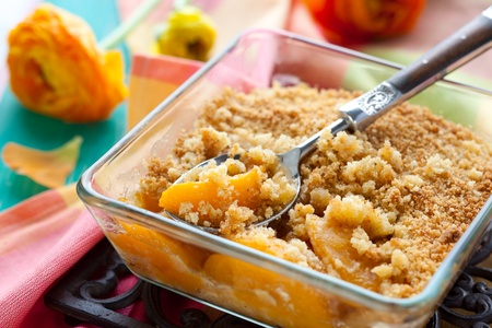 Photo for Delicious peach crumble - Royalty Free Image