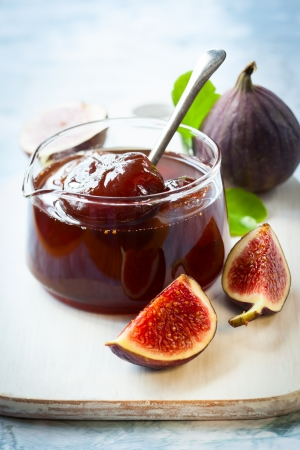 Photo for Fig jam in a jar - Royalty Free Image