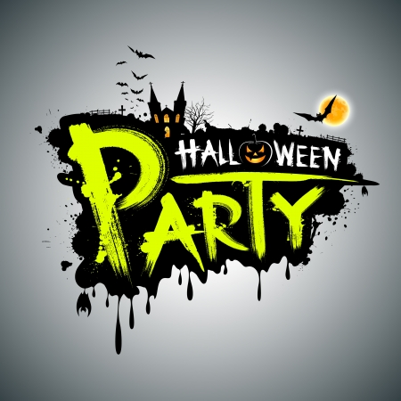 Halloween party Message concept design, illustration