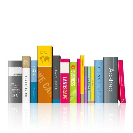 Ilustración de Row of colorful books illustration - Imagen libre de derechos