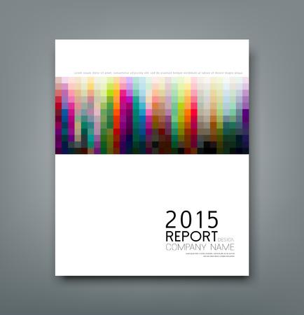Illustration pour Cover report colorful square pattern design background - image libre de droit
