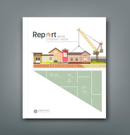Illustration pour Cover Annual reports building constructions background design - image libre de droit