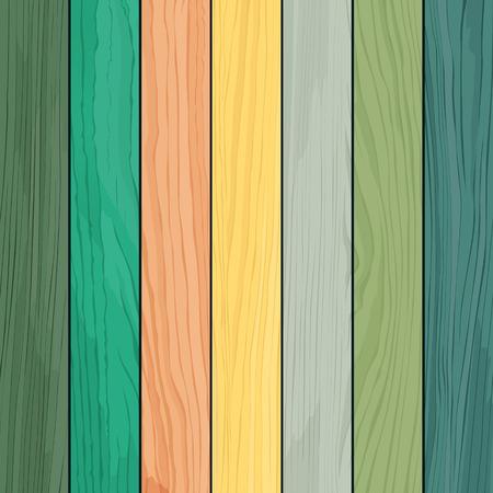 Illustration pour Wood realistic colorful texture design - image libre de droit