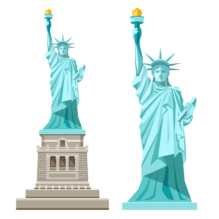 Illustration pour Statue of liberty of america vector - image libre de droit