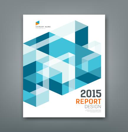 Ilustración de Cover report triangle and square geometry abstract - Imagen libre de derechos