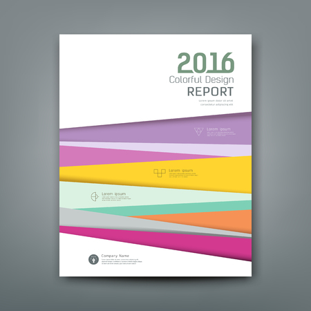 Ilustración de Cover report colorful pantone tiles new year design - Imagen libre de derechos