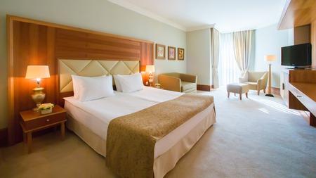 Photo pour The Interior design.The big modern Bedroom - image libre de droit