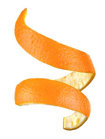 Photo for orange peel isolated - Royalty Free Image