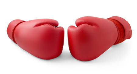 Foto de Red boxing gloves isolated - Imagen libre de derechos