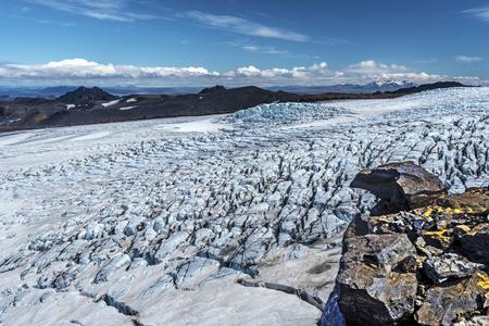 Photo for View at Kverkfjoll Glassier in Vatnajokull National Park of Iceland - Royalty Free Image