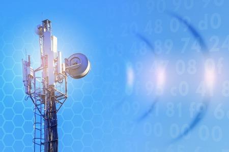 Photo pour concept of wireless radio Internet. 5G. 4G, 3G mobile technologies. - image libre de droit