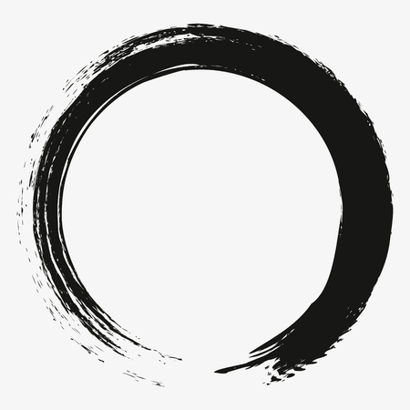 Ilustración de Painting enso zen circle brush vector illustration. - Imagen libre de derechos