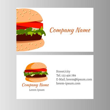 Foto für Burger business card Template for shop - Lizenzfreies Bild