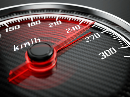 Foto per High speed concept - Car speedometer - Immagine Royalty Free