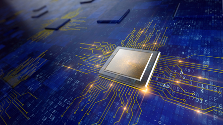 Photo pour Central Computer Processors CPU concept - image libre de droit
