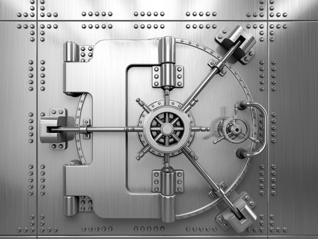Photo pour Bank Vault Door - image libre de droit