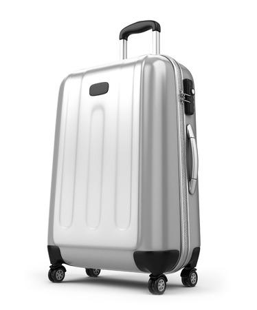 Foto de Large suitcase isolated on white - Imagen libre de derechos