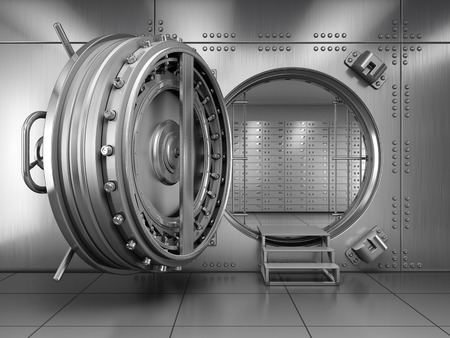 Photo pour Open Bank Vault Door - image libre de droit