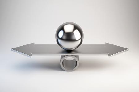 Photo pour Balance and choice concept - image libre de droit