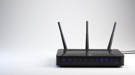 Photo pour Wi-Fi wireless router - 3d render - image libre de droit