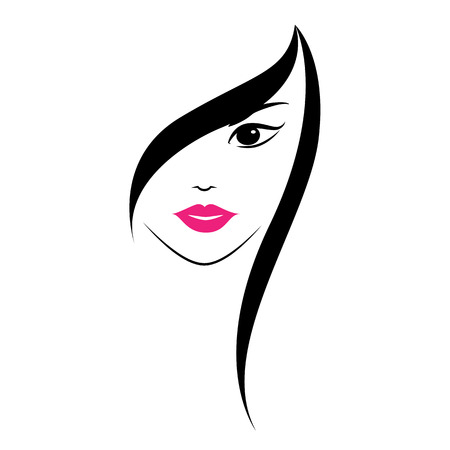 Illustration for Beautiful woman\'s face on white background. - Royalty Free Image