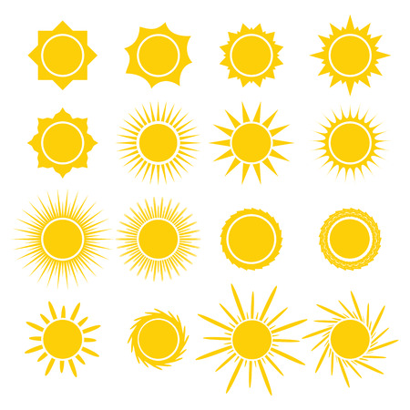Photo for Sun icons collection on white background. Icon symbol design. Vector illustration. - Royalty Free Image