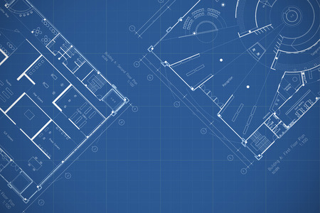 Photo pour Architecture blueprint floor plan - image libre de droit