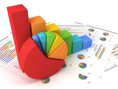 Foto de Business graph with chart - Imagen libre de derechos