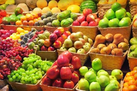 Fresh fruits at a market