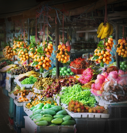 Photo for Fresh fruits at a market - Royalty Free Image
