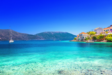Photo pour Fiskardo village, Kefalonia island, Greece - image libre de droit