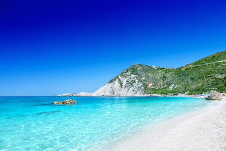 Photo pour Petani beach, Kefalonia, Greece - image libre de droit