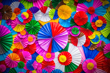 Photo for Colorful paper flower abstract for background - Royalty Free Image