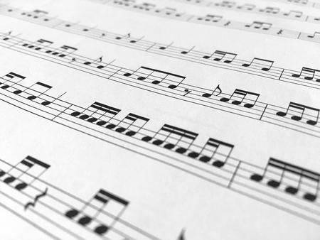 Photo pour Music notes background - image libre de droit