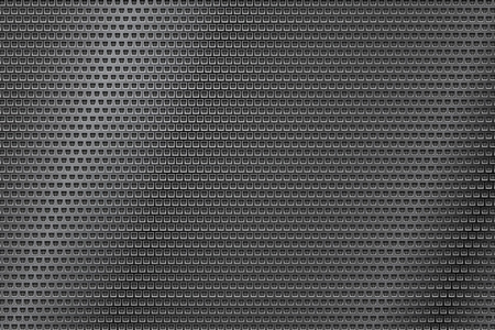 Illustration pour Dark metal perforated background with square holes. Abstract industrial surface - image libre de droit