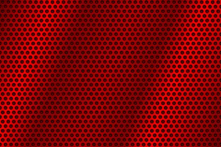 Illustration pour Red metal perforated background. Abstract industrial surface. Vector 3d illustration - image libre de droit