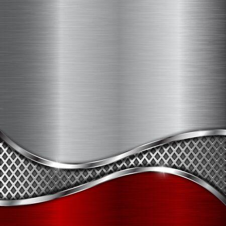 Illustration pour Metal background with steel perforated wave element - image libre de droit