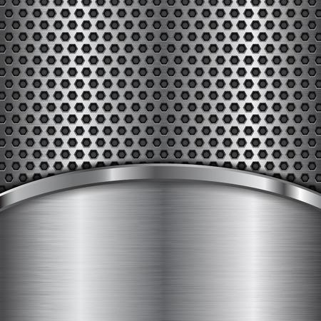 Illustration pour Metal perforated texture  pattern design - image libre de droit
