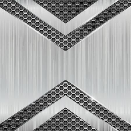 Illustration pour Metal 3d background with perforation - image libre de droit