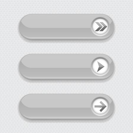 Illustration pour Gray interface buttons with arrows - image libre de droit