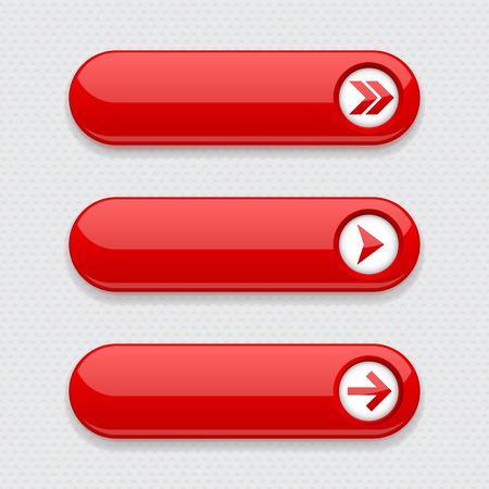 Illustration pour Red interface buttons with arrows - image libre de droit