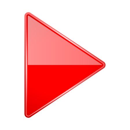 Illustration pour Red shiny 3d arrow. Vector illustration isolated on white background - image libre de droit