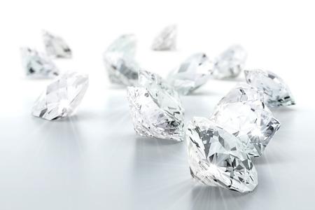 Foto de brilliant diamond jewel (high resolution 3D image) - Imagen libre de derechos