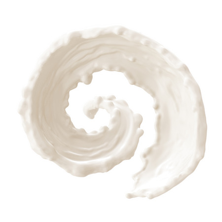 Foto de Milk splashes collection, isolated on white background - Imagen libre de derechos