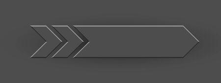Ilustración de Gray arrow on gray background for design and decoration. - Imagen libre de derechos